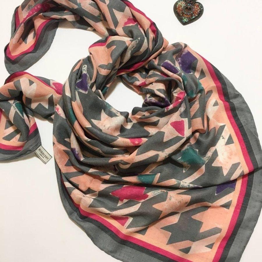 روسری ژاکارد نخی پاییزه